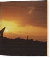 Okinawa Sunset Wood Print