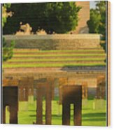 Oklahoma City National Memorial Wood Print by Ricky Barnard