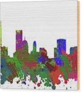 Oklahoma City Skyline Painted Wood Print