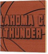 Oklahoma City Thunder Leather Art Wood Print