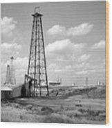 Oklahoma Crude Wood Print