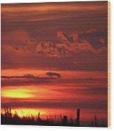 Oklahoma Sky At Daybreak  Wood Print