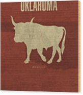 Oklahoma State Facts Minimalist Movie Poster Art Wood Print
