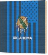 Oklahoma State Flag Graphic Usa Styling Wood Print