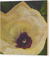Okra Flower Wood Print