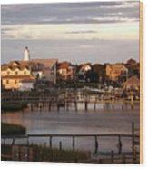 Okracoke Island Nc Sunrise Wood Print
