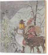 Ol' Saint Nick Wood Print