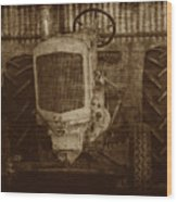 Ol Yeller In Sepia Wood Print