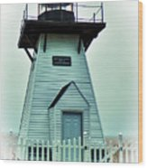 Olcott Lighthouse Wood Print