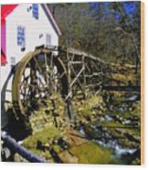 Old 1886 Mill Wood Print by Karen Wiles