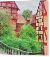 Old Aarhus Wood Print
