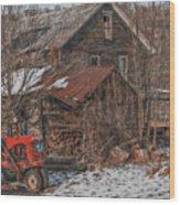 Old Abandoned Farm Homestead Wood Print