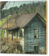 Old Abandoned Home Wood Print