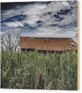 old abandoned house Texico NM Wood Print