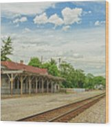 Old Abandoned Train Depot Wood Print