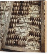 Old Accounting Wooden Abacus Wood Print