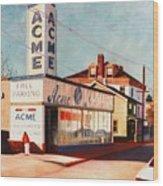 Old Acme Lambertville Nj Wood Print