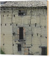 Old Adobe Building In Otavalo Wood Print