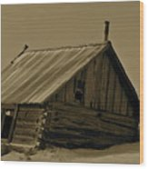 Old Age Wood Print