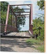 Old Alton Bridge In Denton County Wood Print