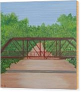 Old Alton Bridge Wood Print