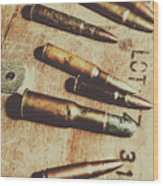 Old Ammunition Wood Print
