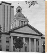 Old And New Florida State Capitol Buildings Wood Print