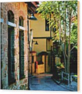 Old Antalya Wood Print