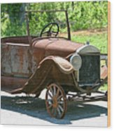 Old Antique Vehicle Wood Print by Douglas Barnett