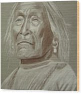Old Apache Scout Wood Print