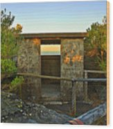 Old Army Lookout In Sunset Hour Wood Print