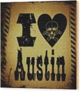 Old Austin Wood Print