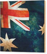 Old Australian Flag Wood Print