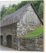 Old Austrian Barn Wood Print