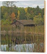 Old Bait Shop On Twin Lake_9626 Wood Print