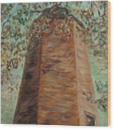 Old Baldy Light House In Teal Wood Print