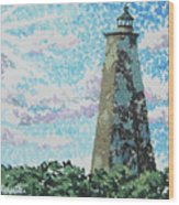 Old Baldy Lighthouse Wood Print