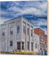 Old Bank Building - Peterstown West Virginia Wood Print