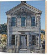 Old Bannack Schoolhouse And Masonic Temple 2 Wood Print