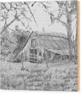 Old Barn 2 Wood Print