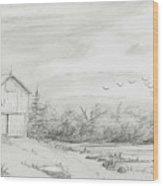 Old Barn 2 Wood Print by BJ Shine