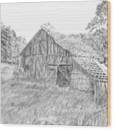 Old Barn 3 Wood Print