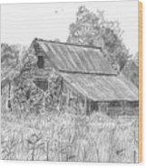 Old Barn 4 Wood Print by Barry Jones