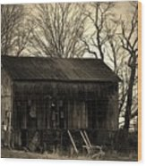 Old Barn-4 Wood Print