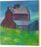 Old Barn And Shed  Wood Print