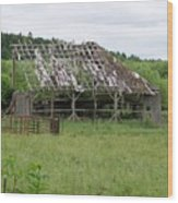 Old Barn Bones  Washington State Wood Print