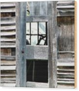Old Barn Closeup Wood Print