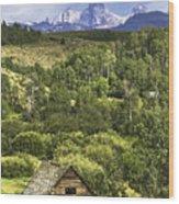 Old Barn, Grand Tetons Wood Print