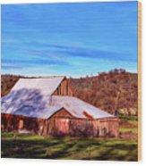 Old Barn In California Wood Print