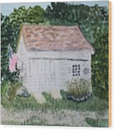 Old Barn In Eastham Ma Wood Print